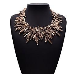 preiswerte Halsketten-Damen Stapel Halskette - Strass Blattform damas, Hyperbel, Ethnisch Gold, Silber 50 cm Modische Halsketten Schmuck 1pc Für Alltag