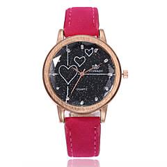 preiswerte Damenuhren-Damen Armbanduhr Quartz Schwarz / Weiß / Blau Armbanduhren für den Alltag Imitation Diamant Analog damas Heart Shape Modisch - Grün Blau Rosa