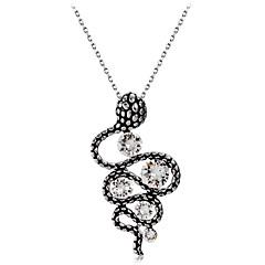 preiswerte Halsketten-Damen Klar Kristall Vintage Stil Anhängerketten - Österreichisches Kristall Schlange Retro, Modisch, Elegant Cool Silber 43.5 cm Modische Halsketten Schmuck 1pc Für Party, Alltag