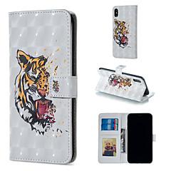 Недорогие Кейсы для iPhone X-Кейс для Назначение Apple iPhone XR / iPhone XS Max Кошелек / Бумажник для карт / со стендом Чехол Животное Твердый Кожа PU для iPhone XS / iPhone XR / iPhone XS Max