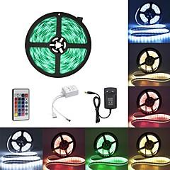abordables Tiras de Luces RGB-BRELONG® 5 m Tiras de Luces RGB 300 LED 2835 SMD RGB Impermeable / Fiesta / Decorativa 100-240 V 1pc / Auto-Adhesivas