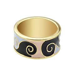 preiswerte Ringe-Damen Tropisch Bandring - Geometrisch, Grundlegend 7 Schwarz / Grün / Blau Für Alltag Verabredung