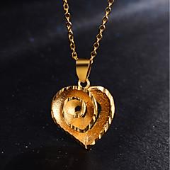 お買い得  ネックレス-女性用 クラシック ペンダントネックレス  -  18Kゴールドメッキ フラワー スタイリッシュ, ぜいたく ハート ゴールド 45 cm ネックレス ジュエリー 1個 用途 パーティー, 贈り物