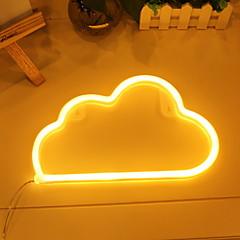 お買い得  LED アイデアライト-1個 LEDナイトライト 温白色 DC電源 愛らしいです <5 V