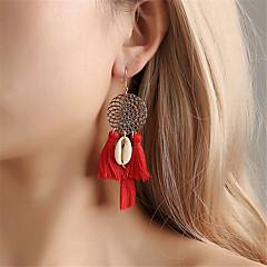 preiswerte Ohrringe-Damen Quaste Tropfen-Ohrringe - Hülle Quaste, Ethnisch, Boho Rot / Blau / Leicht Rosa Für Party Zeremonie