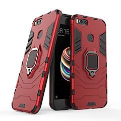 Недорогие Чехлы и кейсы для Xiaomi-Кейс для Назначение Xiaomi Mi 5X Защита от удара / Кольца-держатели Кейс на заднюю панель Однотонный / броня Твердый ПК для Xiaomi Mi 5X