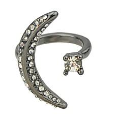 preiswerte Ringe-Damen Kubikzirkonia Sternenstaub Öffne den Ring - MOON Geometrisch, Grundlegend 7 Schwarz Für Alltag Verabredung