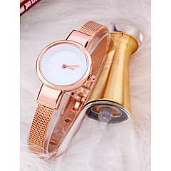 preiswerte Damenuhren-Damen Armbanduhr Quartz Armbanduhren für den Alltag Titanlegierung Band Analog Elegant Schwarz / Silber / Rotgold - Weiß / Silber Rotgold / Weiß Schwarz / Rotgold