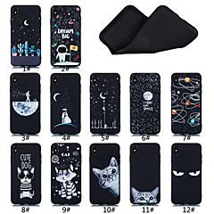 Недорогие Кейсы для iPhone 7-Кейс для Назначение Apple iPhone XS / iPhone XS Max Матовое / С узором Кейс на заднюю панель Слова / выражения / Пейзаж / Животное Мягкий ТПУ для iPhone XS / iPhone XR / iPhone XS Max