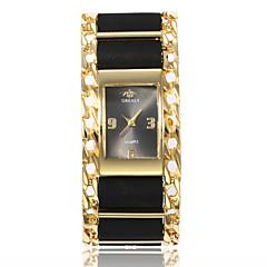preiswerte Damenuhren-Damen damas Kleideruhr Armbanduhr Quartz Armbanduhren für den Alltag PU Band Analog Modisch Elegant Schwarz / Rot - Schwarz / Silber Silber / Rot Gold / Rot