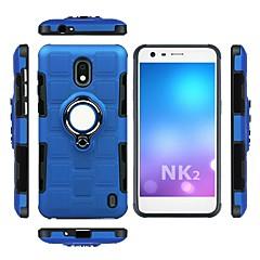 Недорогие Чехлы и кейсы для Nokia-Кейс для Назначение Nokia Nokia 8 Защита от удара / Кольца-держатели Кейс на заднюю панель броня Мягкий ТПУ для Nokia 8 / Nokia 2