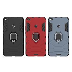 Недорогие Чехлы и кейсы для Xiaomi-Кейс для Назначение Xiaomi Mi Max 2 Защита от удара / Кольца-держатели Кейс на заднюю панель Однотонный / броня Твердый ПК для Xiaomi Mi Max 2