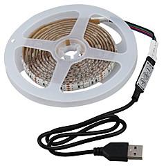 お買い得  LED ストリングライト-2m ライトセット 60 LED SMD5050 1×調光スイッチ RGB 防水 / カット可能 / 車に最適 5 V 1セット