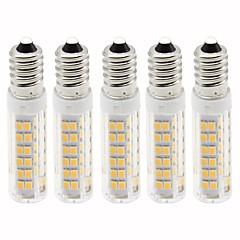 preiswerte LED-Birnen-5 Stück 4.5 W 450 lm E14 LED Mais-Birnen T 76 LED-Perlen SMD 2835 Abblendbar Warmes Weiß / Kühles Weiß 220 V
