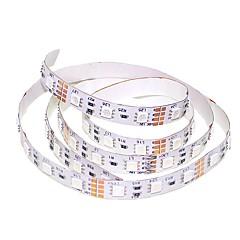 preiswerte LED Lichtstreifen-SENCART 1m Flexible LED-Leuchtstreifen 60 LEDs 5050 SMD Warmes Weiß / RGB / Weiß Schneidbar / Verbindbar / Für Fahrzeuge geeignet 12 V 1pc / Selbstklebend / IP44