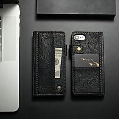 Недорогие Кейсы для iPhone 7-CaseMe Кейс для Назначение Apple iPhone 8 / iPhone 7 Бумажник для карт / Защита от удара / со стендом Чехол Однотонный Твердый Кожа PU для iPhone 8 / iPhone 7