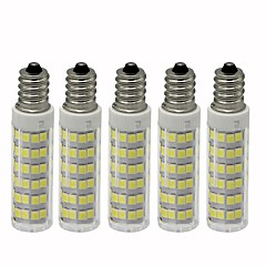 abordables Bombillas LED-5pcs 4.5 W 450 lm E12 Bombillas LED de Mazorca T 76 Cuentas LED SMD 2835 Regulable Blanco Cálido / Blanco Fresco 110 V