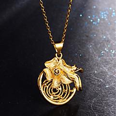 preiswerte Halsketten-Damen Klassisch Anhängerketten - Blume Stilvoll, Luxus Heart, lieblich Gold 45 cm Modische Halsketten Schmuck 1pc Für Party, Geschenk