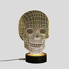 お買い得  USB ライト-1セット LEDナイトライト / 3Dナイトライト 温白色 USB 創造的 / 安全用具 / デコレーション 5 V アーティスティック / LED
