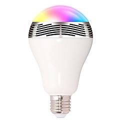 お買い得  LED 電球-1pcスマートrgbバルブブルートゥース4.0オーディオスピーカーランプdimmable e27 ledワイヤレス音楽球根ライト色wifiアプリ制御を介して変更