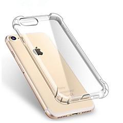 Недорогие Кейсы для iPhone 7-Кейс для Назначение Apple iPhone X / iPhone 7 / iPhone 7 Plus Защита от удара / Прозрачный Кейс на заднюю панель Однотонный Мягкий ТПУ для iPhone X / iPhone 8 Pluss / iPhone 8