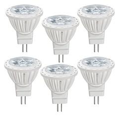 Χαμηλού Κόστους Λαμπτήρες LED-6pcs 4 W 350 lm MR11 LED Σποτάκια MR11 4 LED χάντρες SMD 2835 Θερμό Λευκό / Ψυχρό Λευκό 12 V