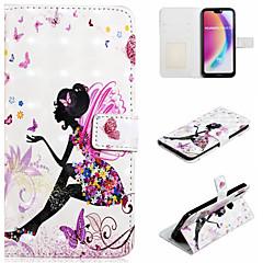 お買い得  Huawei Pシリーズケース/ カバー-ケース 用途 Huawei P20 Pro / P20 lite ウォレット / カードホルダー / スタンド付き フルボディーケース セクシーレディ ハード PUレザー のために Huawei P20 Pro / Huawei P20 lite / P10 Lite