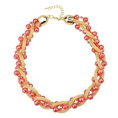 preiswerte Halsketten-Damen Geflochten Stränge Halskette - Modisch lieblich Purpur, Rot, Leicht Grün 48.5 cm Modische Halsketten Schmuck 1pc Für Alltag
