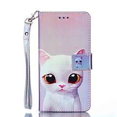 Недорогие Кейсы для iPhone 6-Кейс для Назначение Apple iPhone XR / iPhone XS Max Кошелек / Бумажник для карт / Защита от удара Чехол Кот Твердый Кожа PU для iPhone XS / iPhone XR / iPhone XS Max