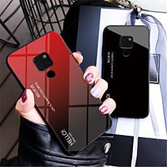 Недорогие Чехлы и кейсы для Huawei Mate-Кейс для Назначение Huawei Huawei Mate 20 Lite / Huawei Mate 20 Pro Зеркальная поверхность Кейс на заднюю панель Градиент цвета Твердый Закаленное стекло для Mate 10 / Mate 10 pro / Mate 10 lite