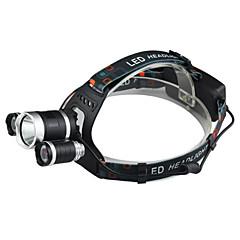 preiswerte Stirnlampen-Stirnlampen LED LED 3 Sender 2400 lm 4.0 Beleuchtungsmodus inklusive Ladegerät Wasserfest, Stoßfest, Wiederaufladbar Camping / Wandern / Erkundungen, Für den täglichen Einsatz, Radsport