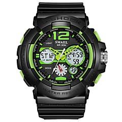 お買い得  メンズ腕時計-男性用 スポーツウォッチ デジタル ブラック 耐水 カレンダー クロノグラフ付き アナログ/デジタル カジュアル ファッション - グレー グリーン ブルー