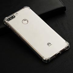 זול כיסויים / מכסים ל Huawei-מגן עבור Huawei Honor 7C(Enjoy 8) עמיד בזעזועים / שקוף כיסוי אחורי אחיד רך TPU ל Honor 7C(Enjoy 8)