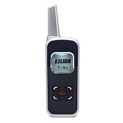 お買い得  トランシーバー-m6ミニトランシーバー125ch 2w uhf 400-520mhz pmr446 vox液晶ディスプレイハムラジオfmトランシーバー双方向ラジオ