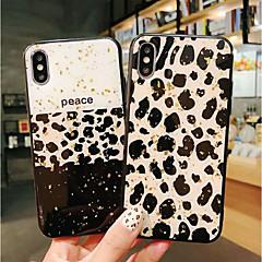 Недорогие Кейсы для iPhone 6 Plus-Кейс для Назначение Apple iPhone X / iPhone XS Max Защита от удара / Защита от пыли Кейс на заднюю панель Леопардовый принт Мягкий ТПУ для iPhone XS / iPhone XR / iPhone XS Max
