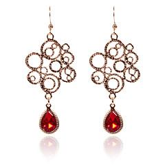 preiswerte Ohrringe-Damen Kristall Tropfen-Ohrringe - Retro Elegant Schmuck Rot / Blau / Champagner Für Zeremonie Party 1 Paar