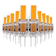 お買い得  LED 電球-10個 3 W 200-300 lm G4 LED2本ピン電球 T 1 LEDビーズ COB かわいい 温白色 / クールホワイト 12 V