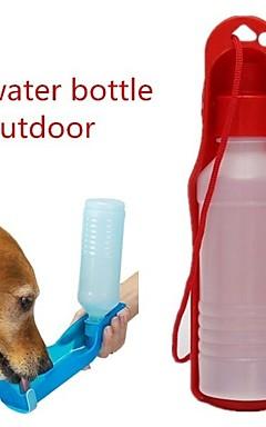 رخيصةأون -كلاب قطط الطاسات وزجاجات 0.03-0.05 L بلاستيك المحمول الخارج ألوان متناوبة أحمر أزرق زهري السلطانيات والتغذية