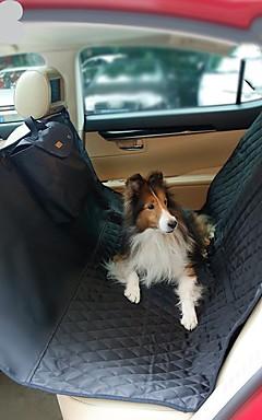 رخيصةأون -كلاب قطط سيارة مقعد الغطاء العناية الصحية حيوانات أليفة حاملات المحمول السفر قابلة للطي لون سادة أسود البيج رمادي