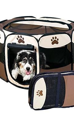 رخيصةأون -قط كلب حيوانات أليفة حاملات قابلة للطى كارتون بني أصفر أحمر