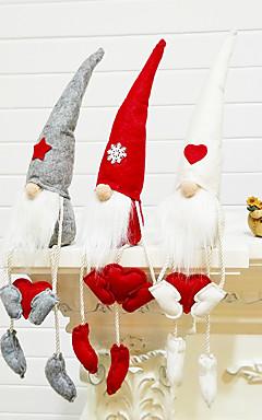 رخيصةأون -تماثيل الكريسمس / عيد الميلاد / عيد الميلاد الحلي عطلة / كرتون / العائلة منسوجات كارتون / حزب / حداثة زينة عيد الميلاد