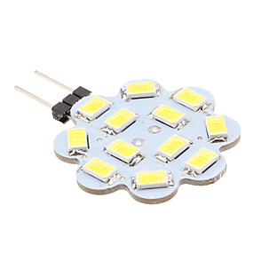 abordables Luces LED de Doble Pin-1.5 W Luces LED de Doble Pin 6000 lm G4 12 Cuentas LED SMD 5630 Blanco Natural 12 V / #