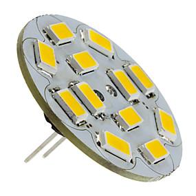 abordables Luces LED de Doble Pin-1.5 W Focos LED 130-150 lm G4 12 Cuentas LED SMD 5730 Blanco Cálido 12 V / #