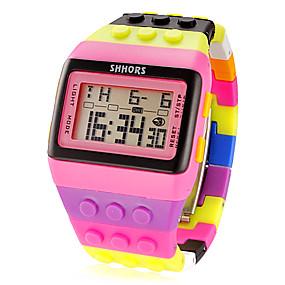 halpa naisten digitaaliset kellot-Naisten Digitaalinen Watch Square Watch Digitaalinen Hälytys Kalenteri Ajanotto Digitaalinen naiset Viehätys Muoti - Pinkki / LCD