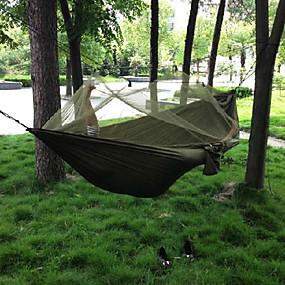 ieftine Accesorii Sport & Exterior-Hamac Camping cu Plasă de Țânțari În aer liber Camping Portabil Rezistent la Vânt Ultra Ușor (UL) 250*135 cm pânză Nailon Vânătoare Pescuit Drumeție pentru 2 persoane