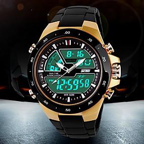 저렴한 오늘의 특가-SKMEI 남성용 스포츠 시계 손목 시계 디지털 시계 석영 디지털 일본 쿼츠 블랙 30 m 방수 알람 달력 아날로그-디지털 패션 - 화이트 블랙 레드 2 년 배터리 수명 / 크로노그래프 / 야광의 / LCD / 듀얼 타임 존 / Maxell626 + 2025