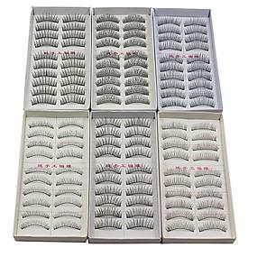 זול איפור וטיפול בציפורניים-ריס ריסים מלאכותיים 120 pcs מועצם / טבעי / מסולסל ריס קלסי יומי להשלים קוֹסמֵטִי