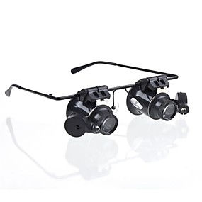 cheap Leisure Hobbies-Glasses Type 20X Magnifier with White LED Light (4xCR1620)