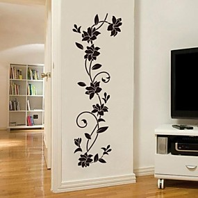 cheap Decoration Stickers-Decorative Wall Stickers - Plane Wall Stickers Romance / Fashion / Botanical Living Room / Bedroom / Dining Room / Washable / Removable