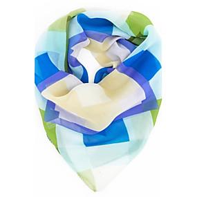 economico Sciarpe e scialli-Per donna Da serata / Da ufficio Sciarpa quadrata - Chiffon Monocolore / Romantico / Foulard e ascot